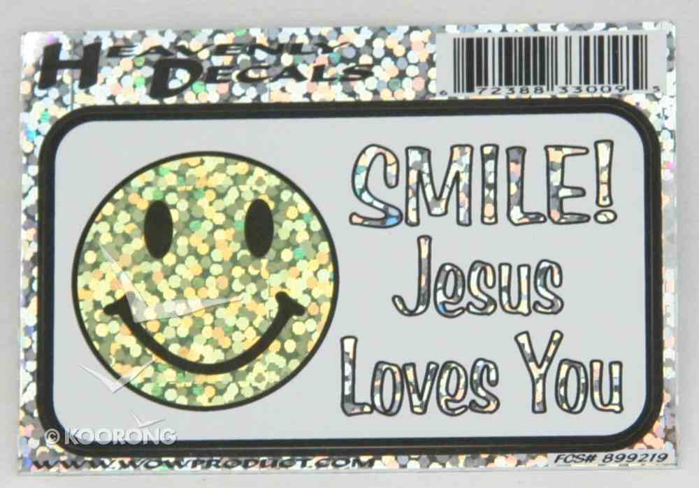 Heavenly Decal Mini Sticker: Smile! Jesus Loves You Stickers