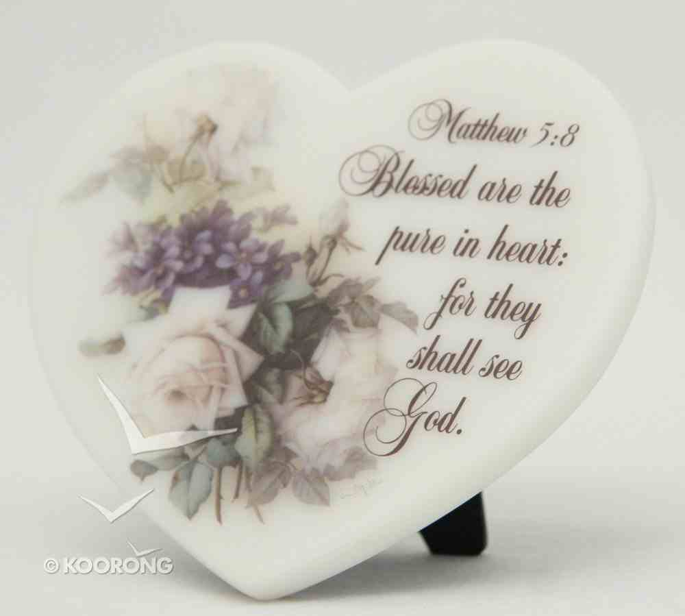 Marble Stone Freestanding Heart: Matthew 5:8 Homeware