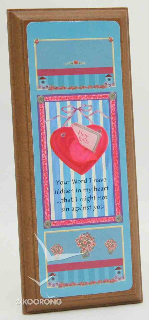 Plaque: Your Word Plaque
