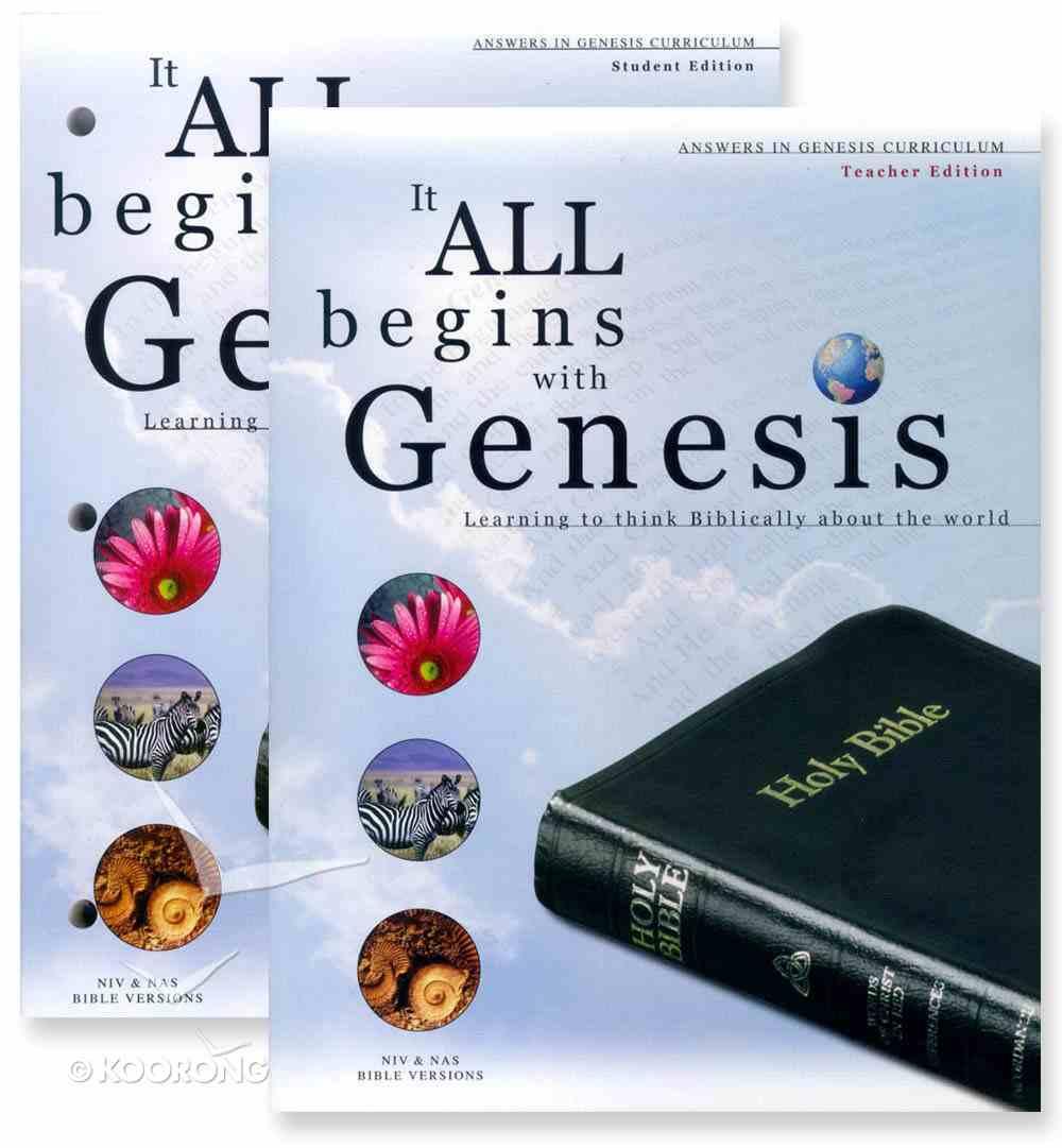 It All Begins With Genesis Niv/Nas (Teacher's Edition) Pack
