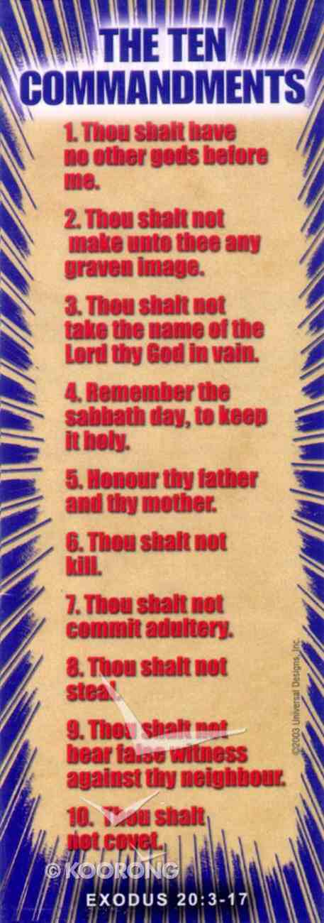 The Ten Commandments (10 Pack) (Bible Basics Bookmark Series) Stationery