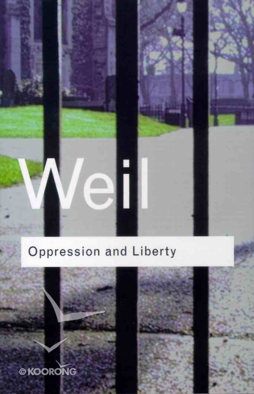 Oppression and Liberty Paperback