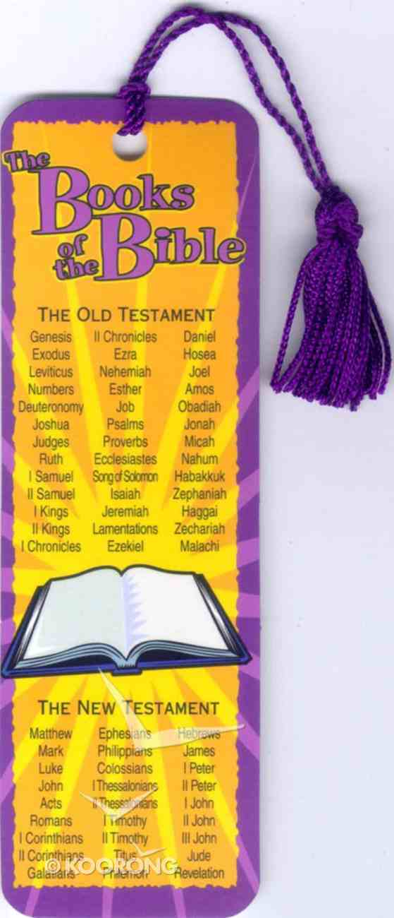 Bookmark With Tassel: Books of the Bible Stationery