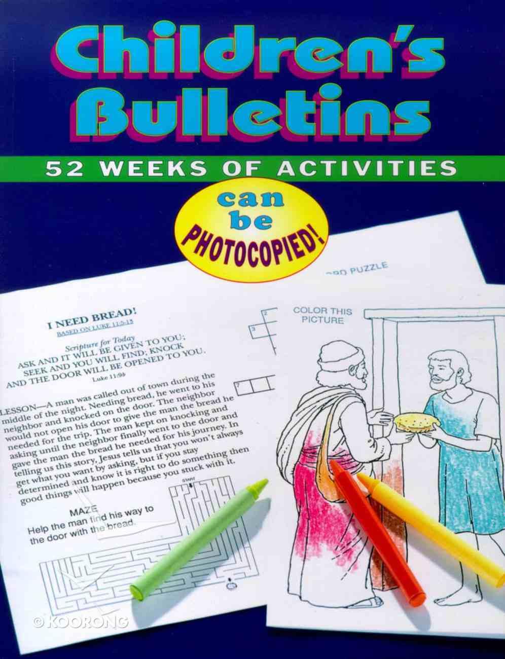 Children's Bulletins Paperback