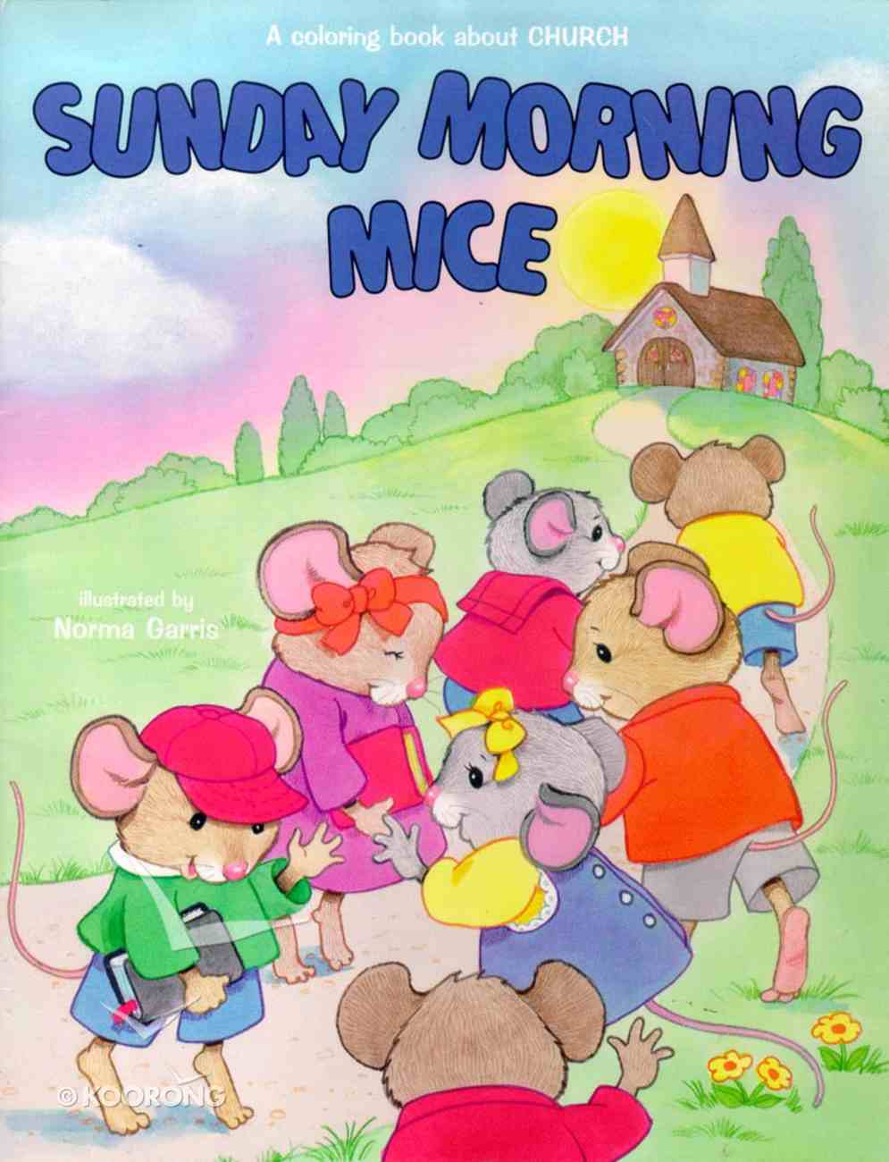 Sunday Morning Mice (Colouring Book) Paperback
