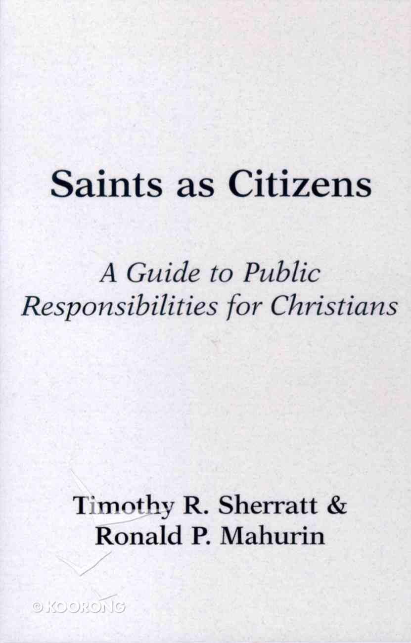 Saints as Citizens Paperback