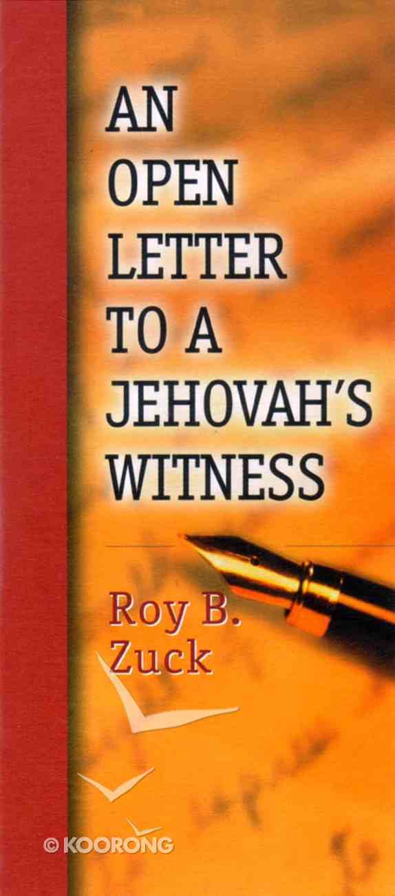 Open Letter to a Jehovahs Witness (Single) Paperback