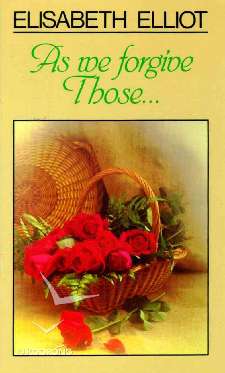 As We Forgive Those..... Booklet