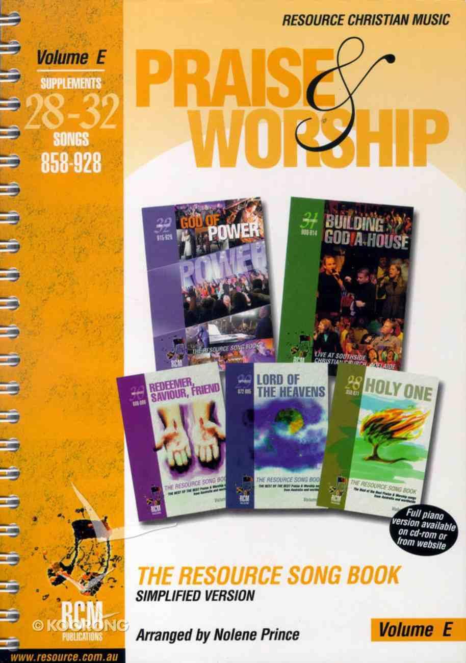 Rcm Volume E Music Book Praise and Worship (Supp 28-32) Spiral