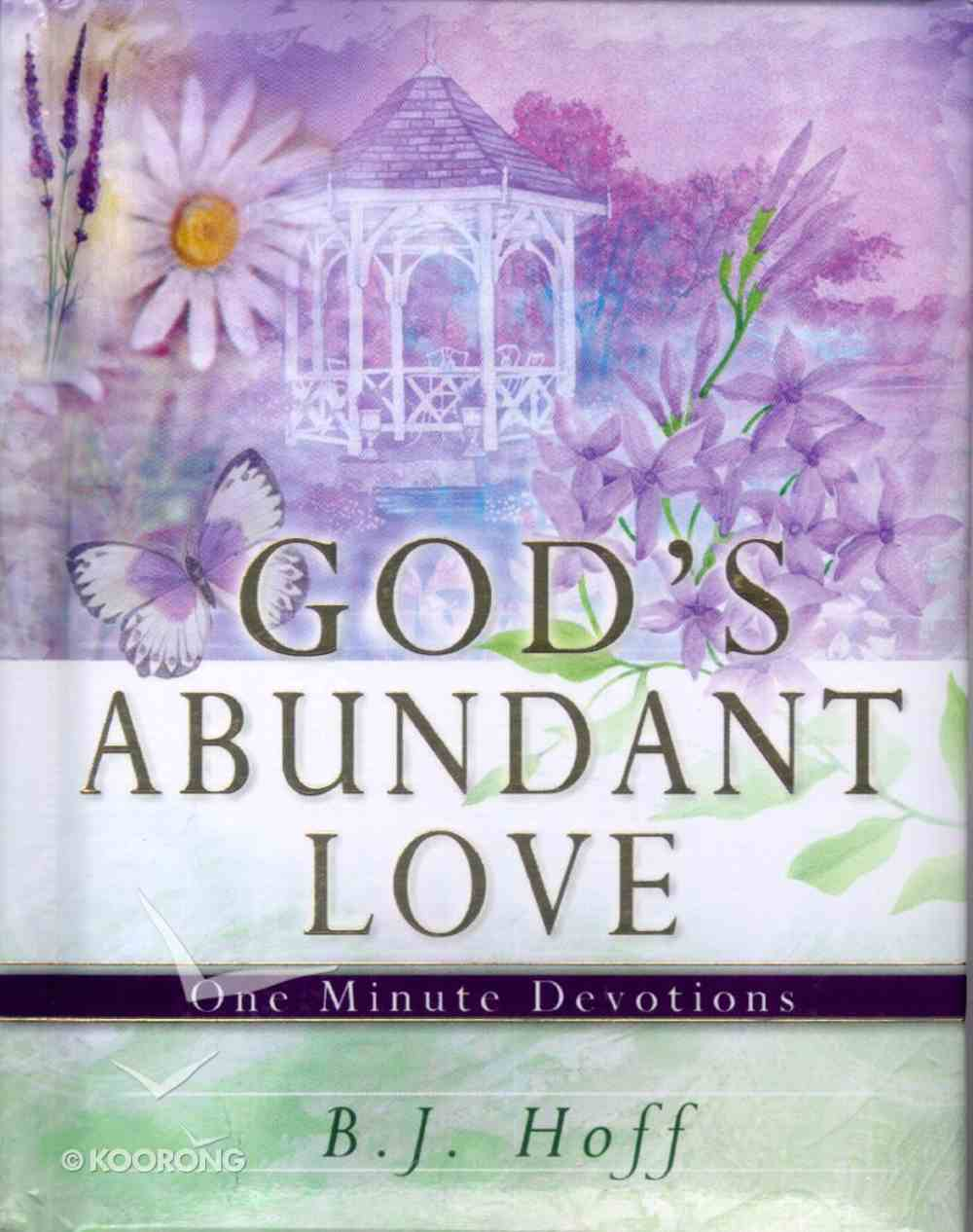 One Minute Devotions: God's Abundant Love Hardback