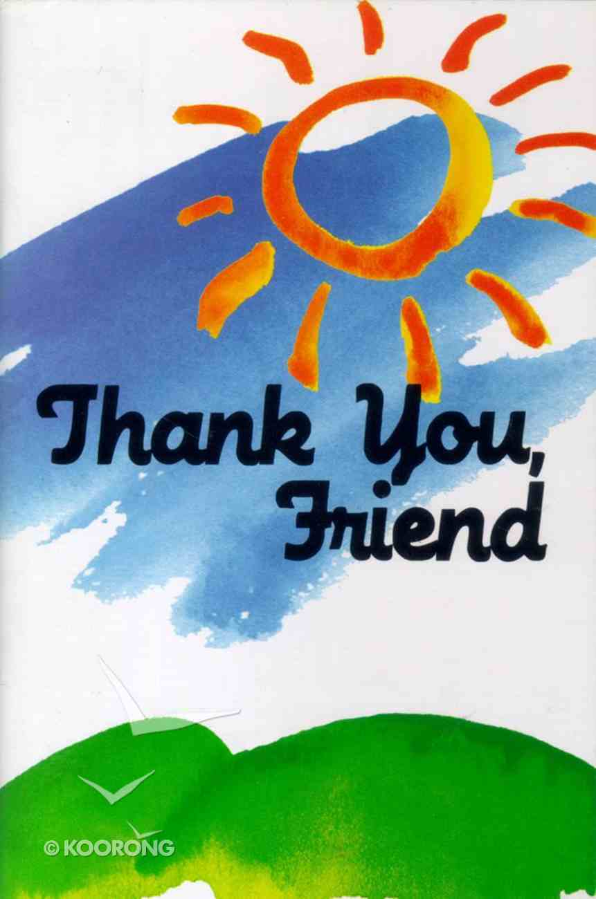 Thank You Friend (#41 in The Friendship Series) Booklet