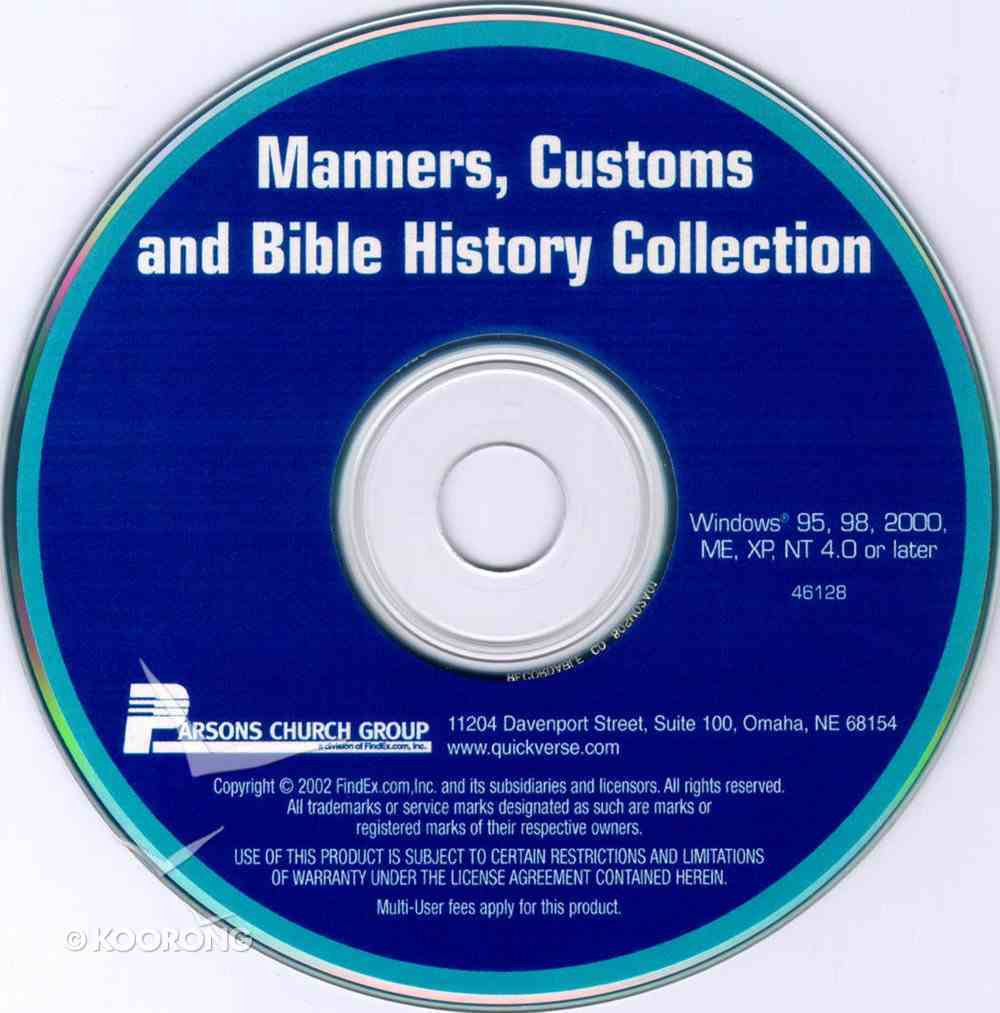 Quickverse 7.0 Add-On Manners Customs and Bible History Collection CD-rom