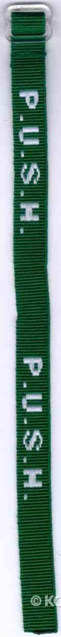 Wristband: Push Green Jewellery