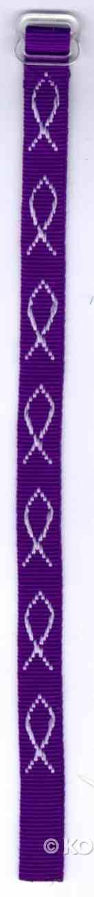 Wristband: Fish Purple Jewellery