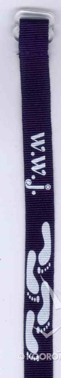 Wristband: Walk With Jesus Navy Blue Jewellery