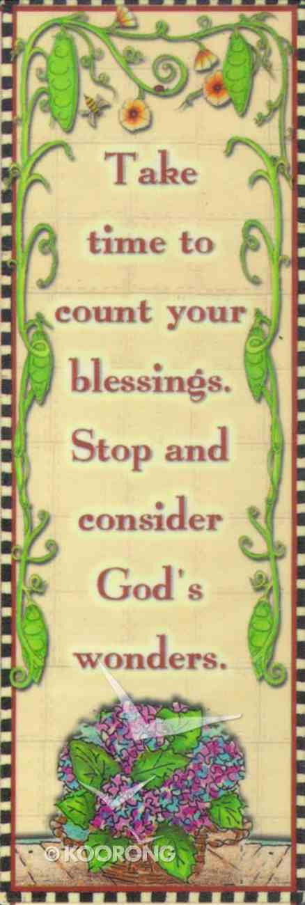 Magnet: Take Time to Count Your Blessings Novelty