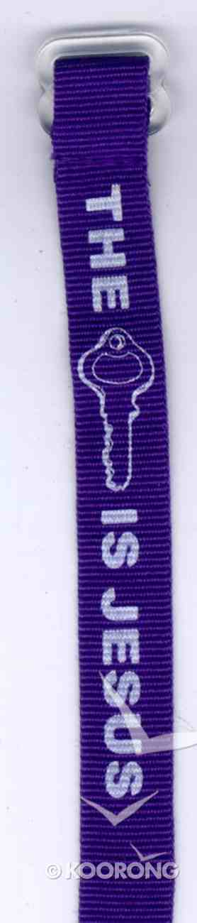 Wristband: Jesus is the Key Royal Blue Jewellery