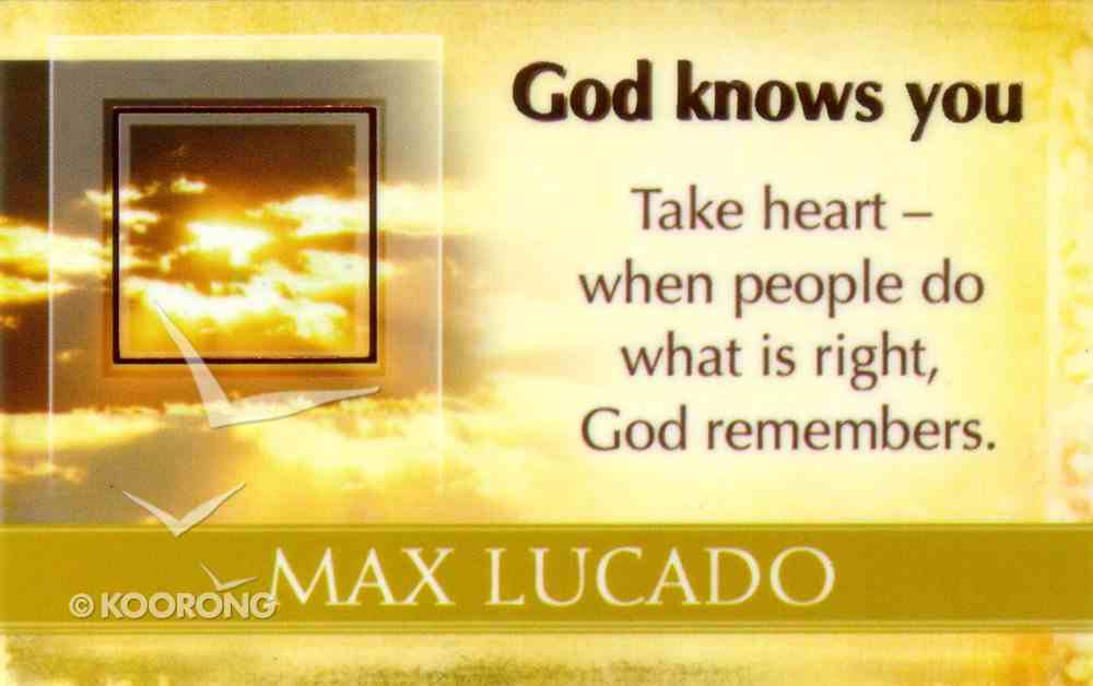 Mlc Pass Around Cards: God Knows You Cards