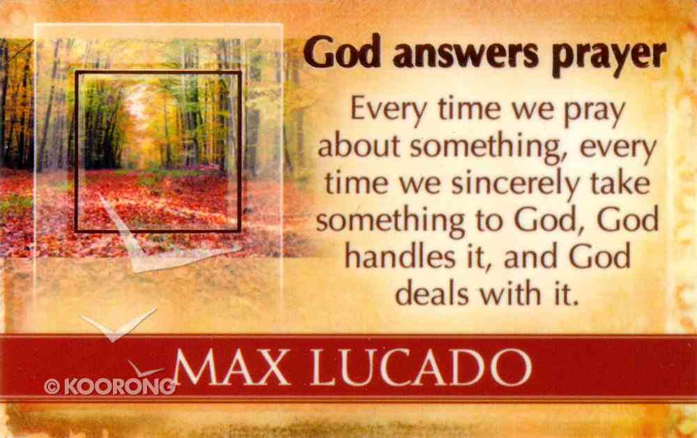 Mlc Pass Around Cards: God Answers Prayer Cards