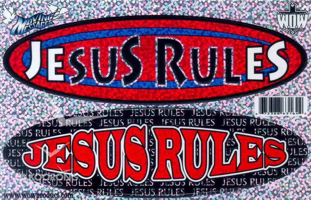 Oval 2-Up Decals: Jesus Rules/Jesus Rules Stickers