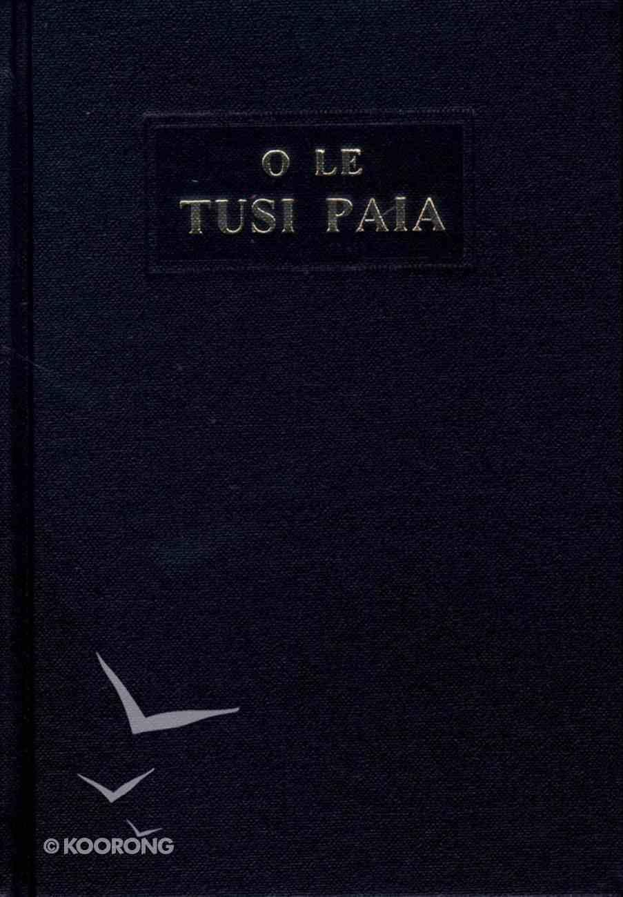 Samoan Revised O Le Tusi Paia Black Compact Hardback