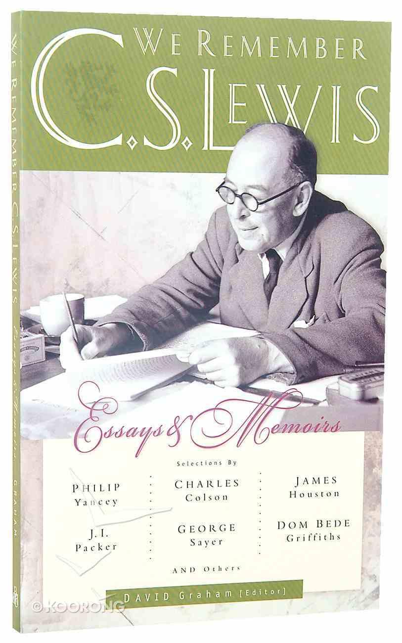 We Remember C S Lewis Paperback