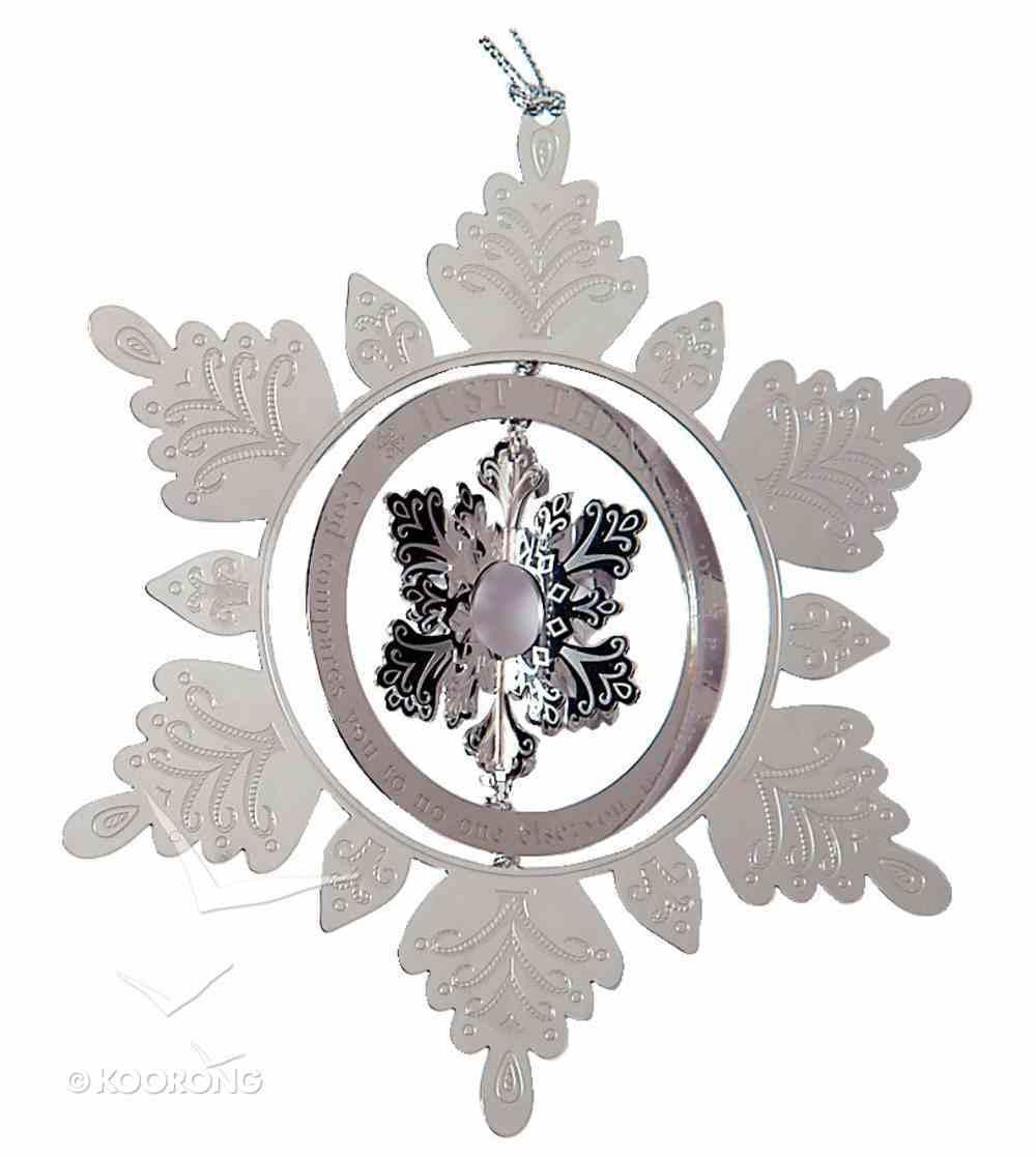 Tree Ornament: Just Think Snowflake Homeware