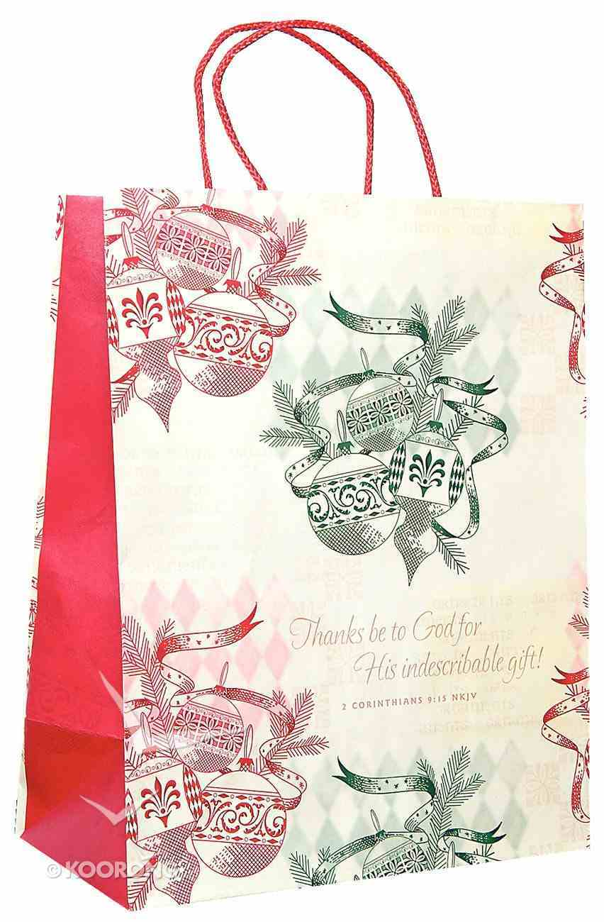 Gift Bag Large: Retro Ornament Thanks Be to God Stationery