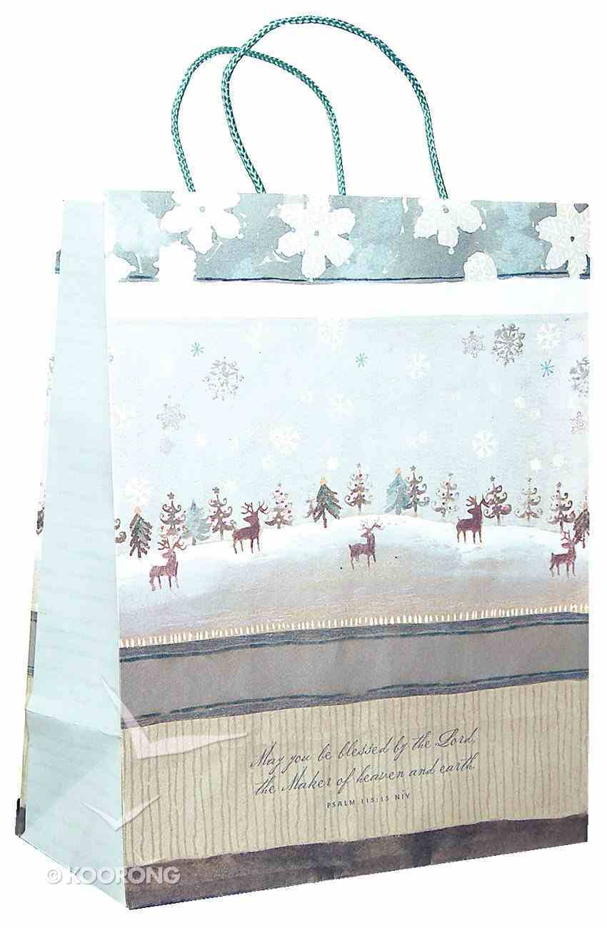 Gift Bag Large: Reindeer May You Be Blessed Stationery
