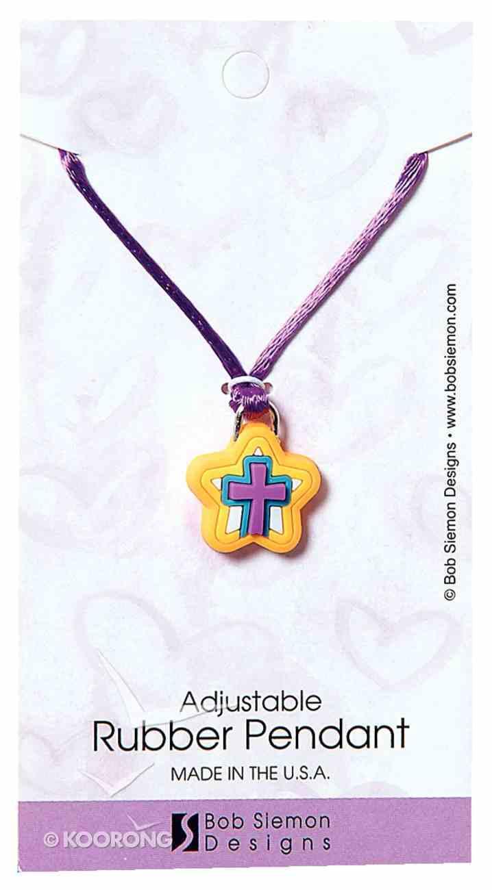 Rubber Pendant: Star Colossians 1:16 Adjustable Lace Cord Jewellery