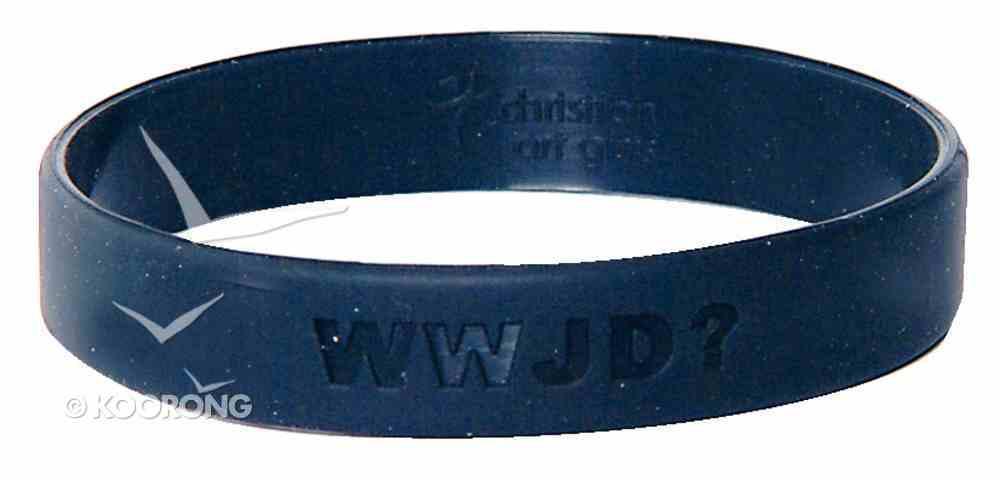 Silicon Wwjd Wristband Black Novelty