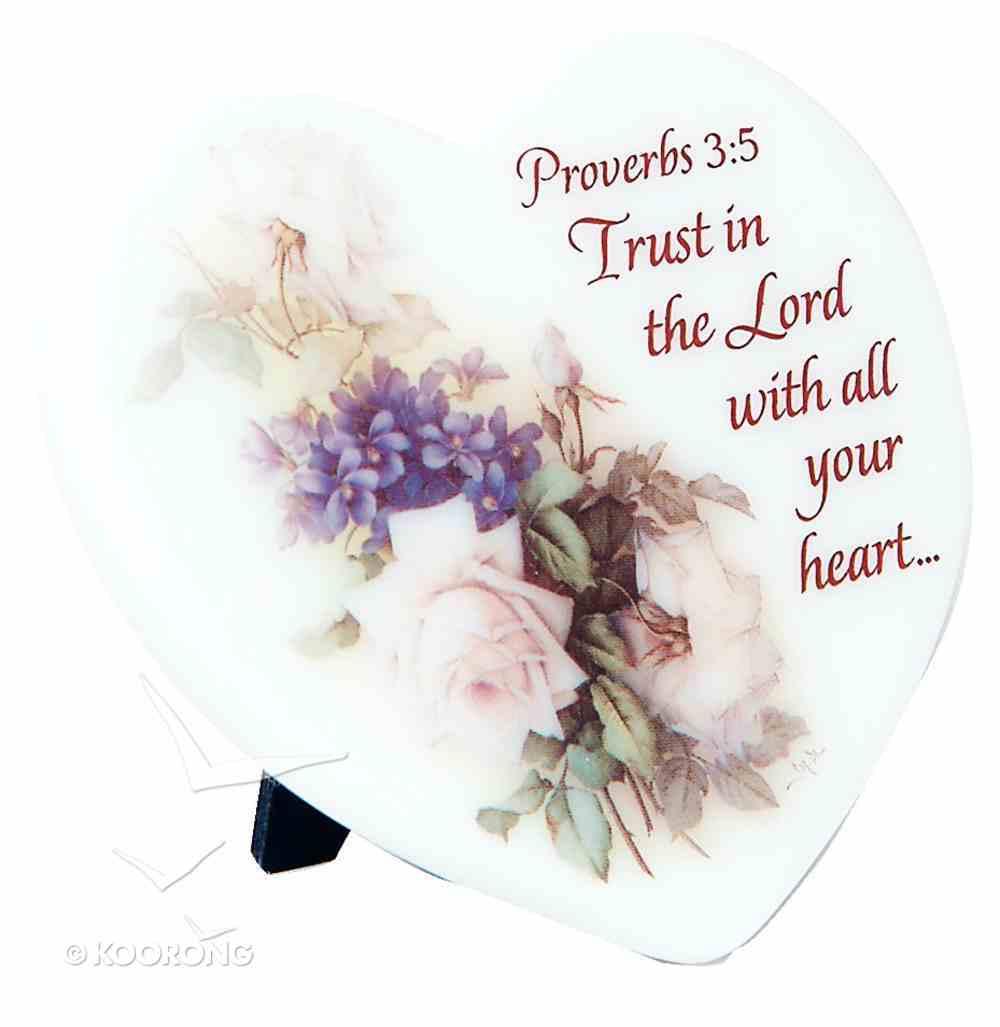 Marble Stone Freestanding Heart: Proverbs 3:5 Homeware