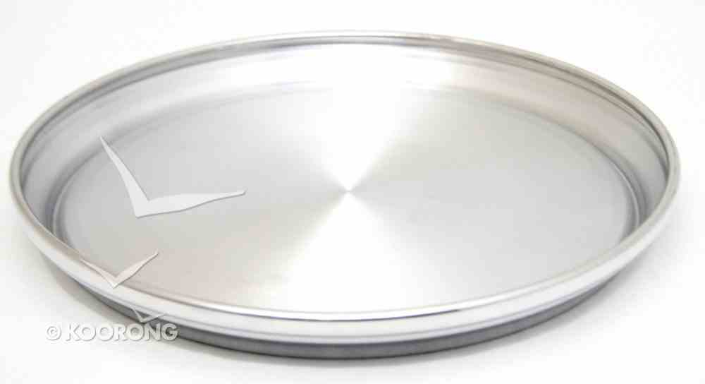"Communion Tray Base: Plain Polished Aluminium (Rw-502pp) (12 3/4"") Church Supplies"