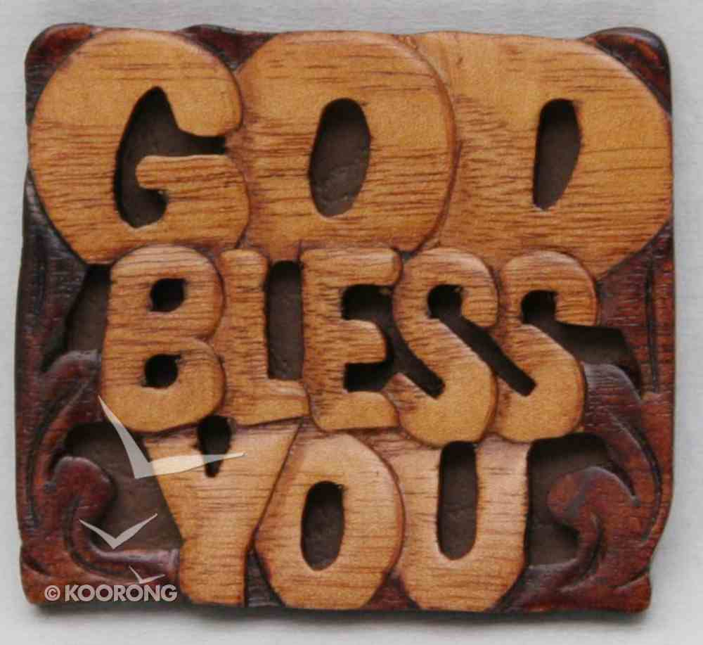 Magnet: Wood God Bless You Novelty