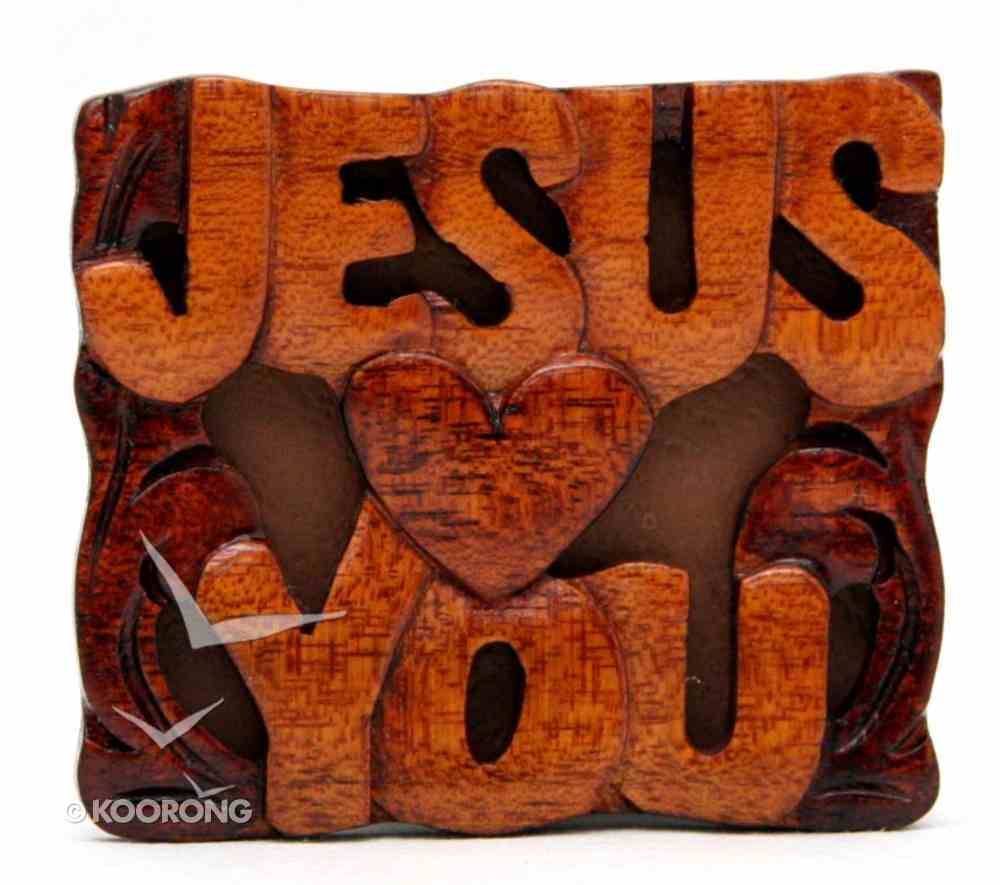 Magnet: Wood Jesus Loves You Novelty