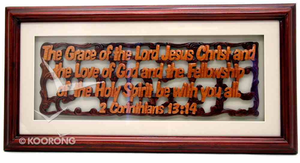 Framed: Glass and Mattboard the Grace of the Lord Jesus Christ Plaque