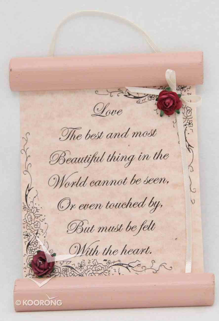 Small Hanging Scroll - Assorted Scripture and Inspirational Plaque