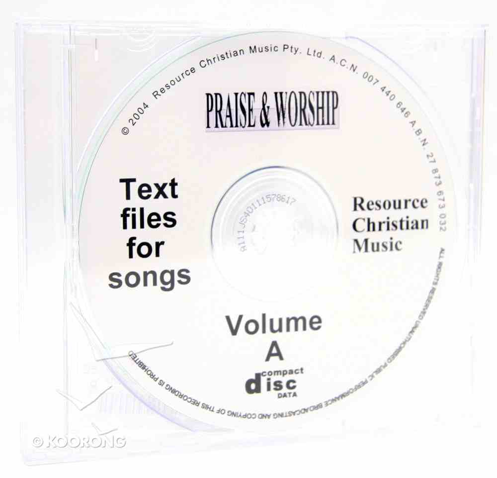 Rcm Volume a (Supp 1-6) Words on CDROM (Condensed) CD-rom