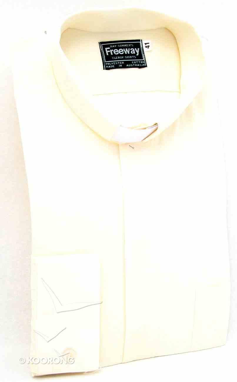 Tonsular Freeway Clergy Shirt Mens Cream 41Cm Long Sleeve Soft Goods