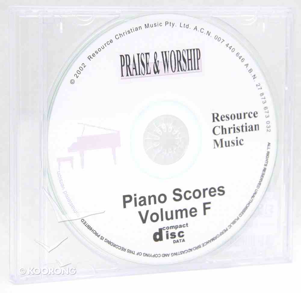 Rcm Volume F Full Piano Version on CDROM (Supp 33-37) CD-rom