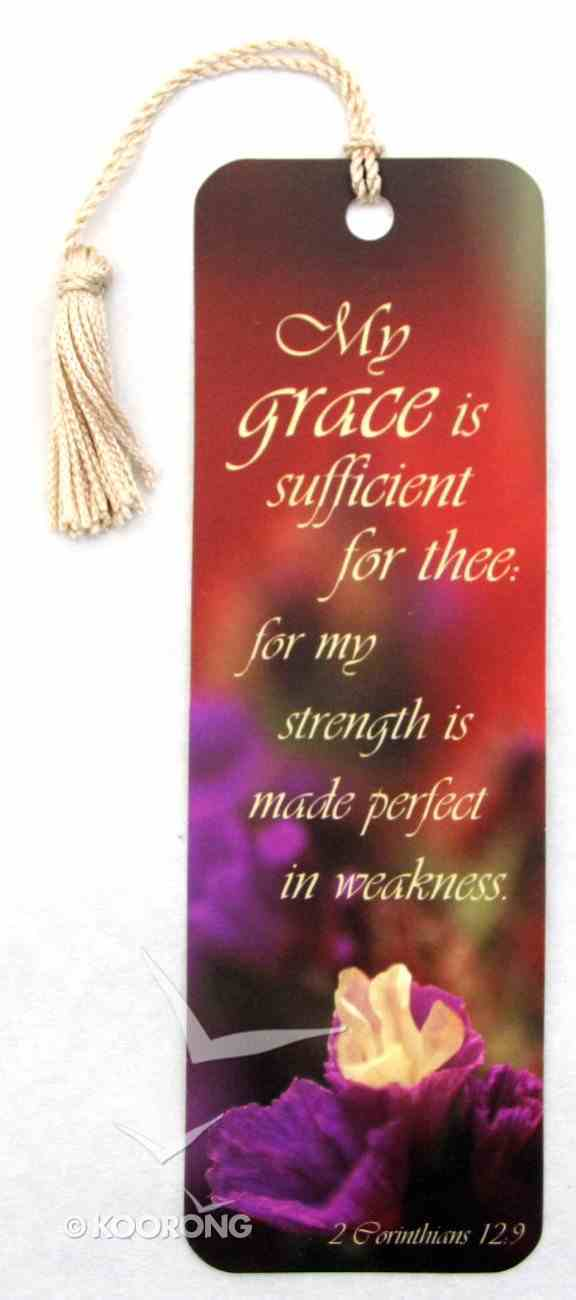 Bookmark With Tassel: My Grace is Sufficient For Thee Stationery