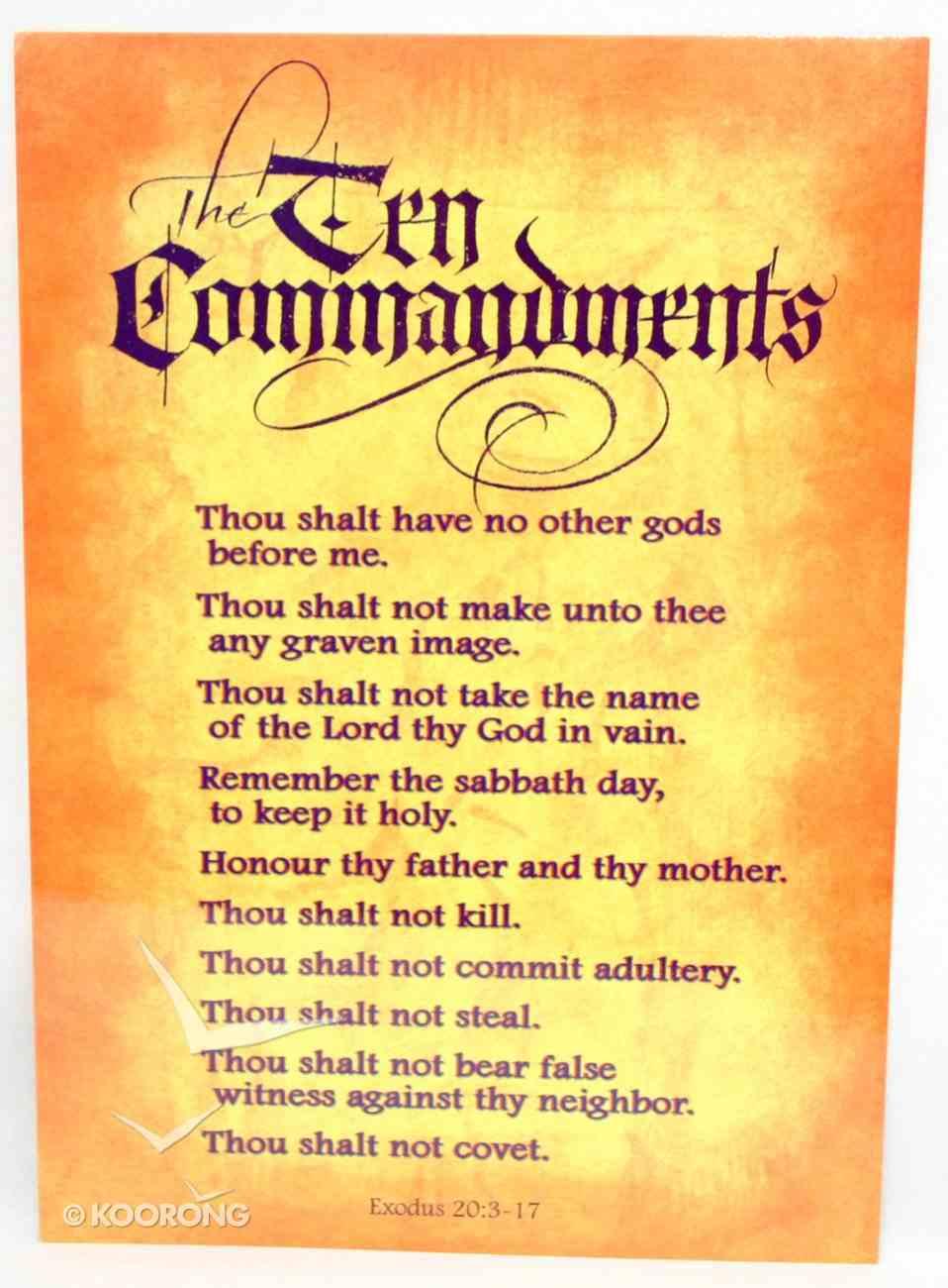Poster Large: Ten Commandments Poster