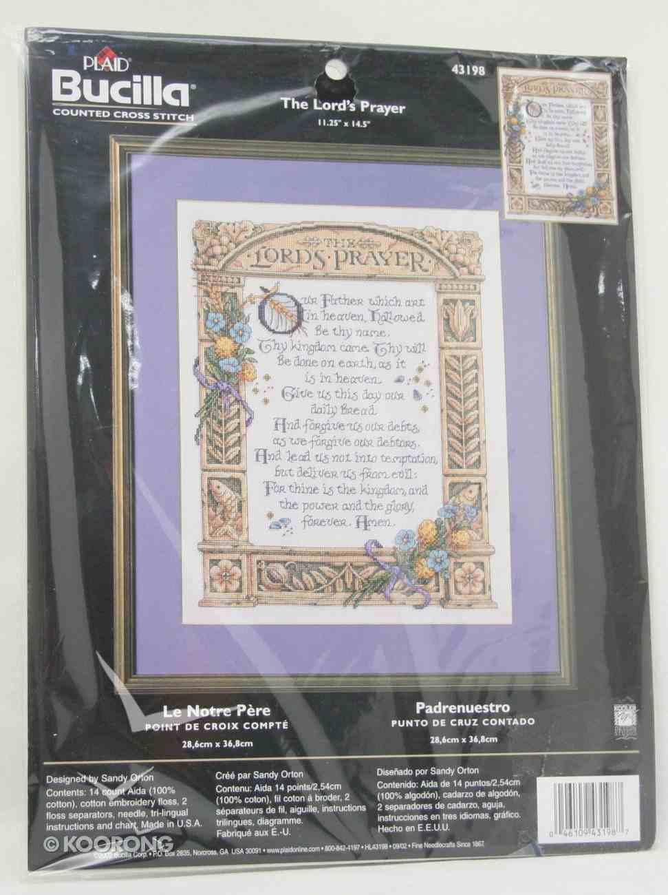 Cross Stitch: Lord's Prayer, the 28Cm X 36Cm Soft Goods