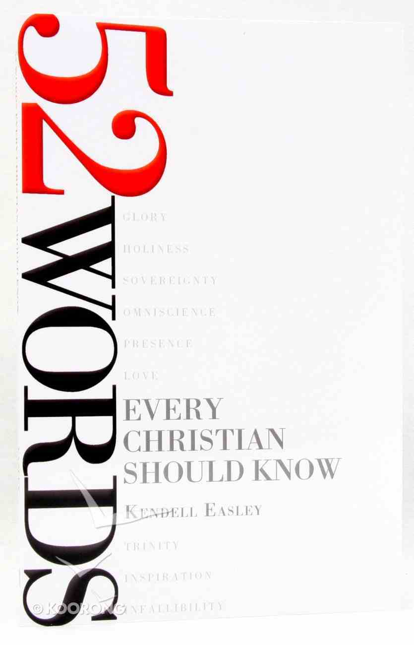 52 Words Every Christian Should Know Paperback