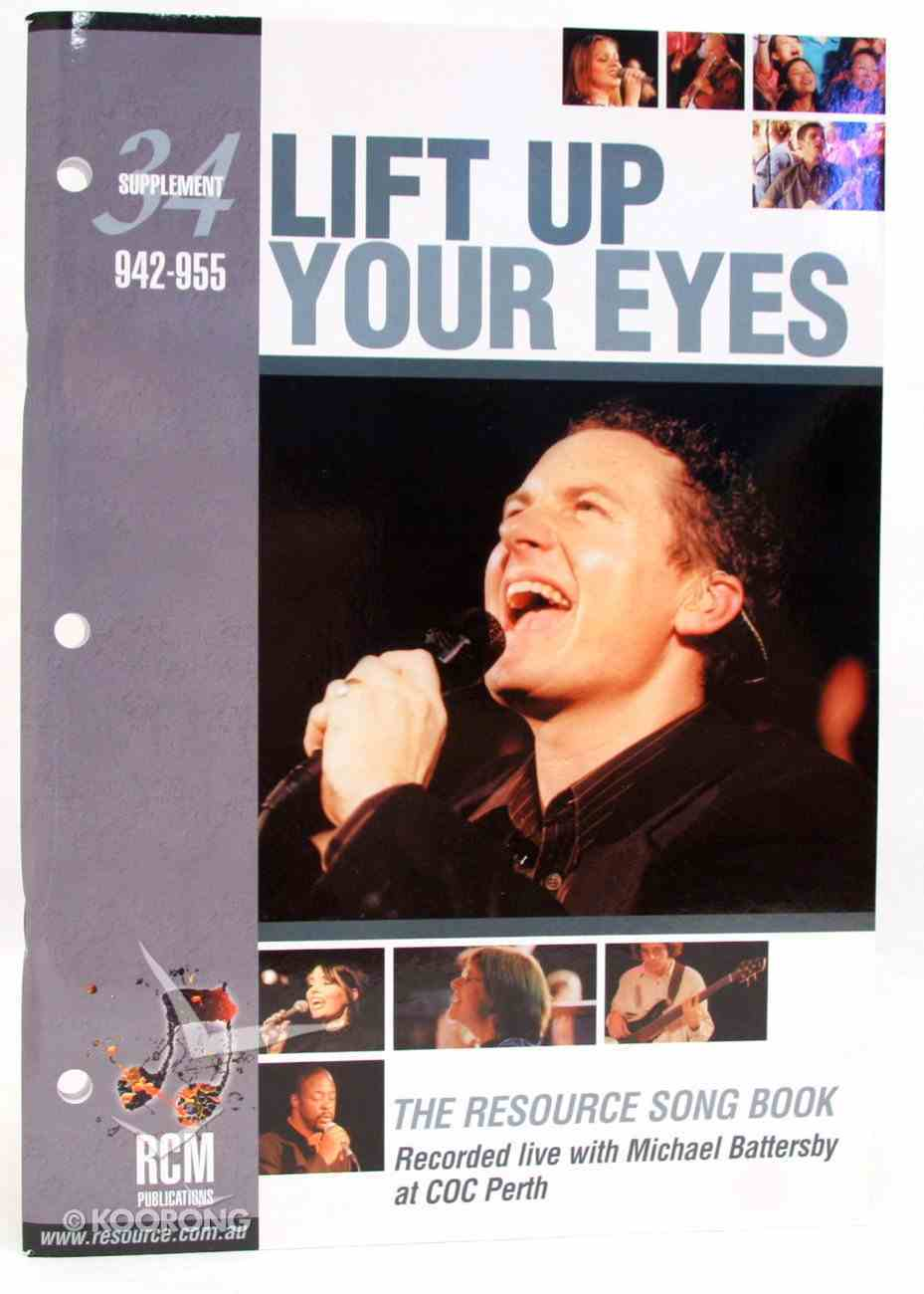 Rcm Volume F: Supplement 34 Lift Up Your Eyes (942-955) Paperback