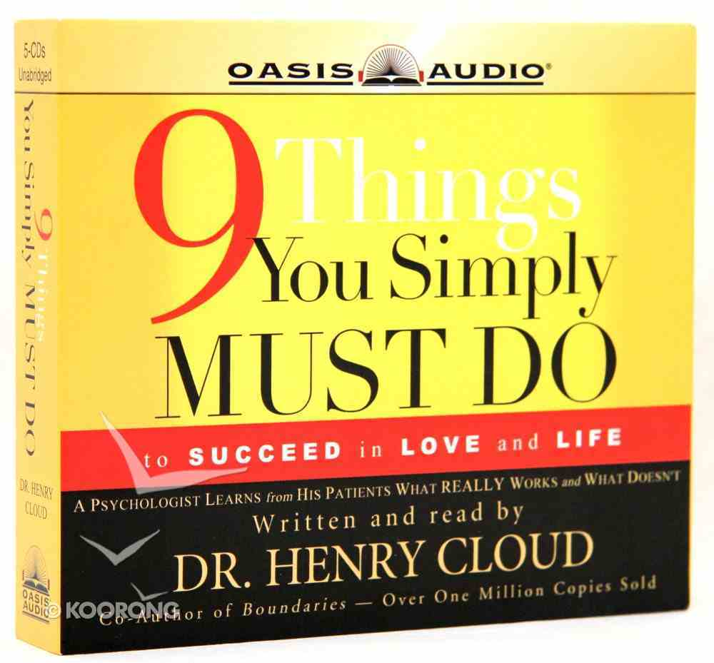 9 Things You Simply Must Do CD