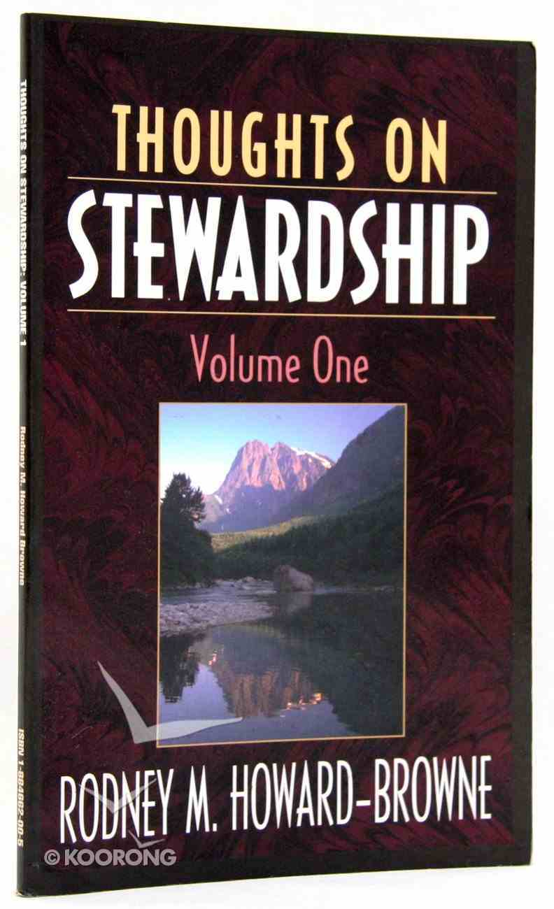 Thoughts on Stewardship Paperback