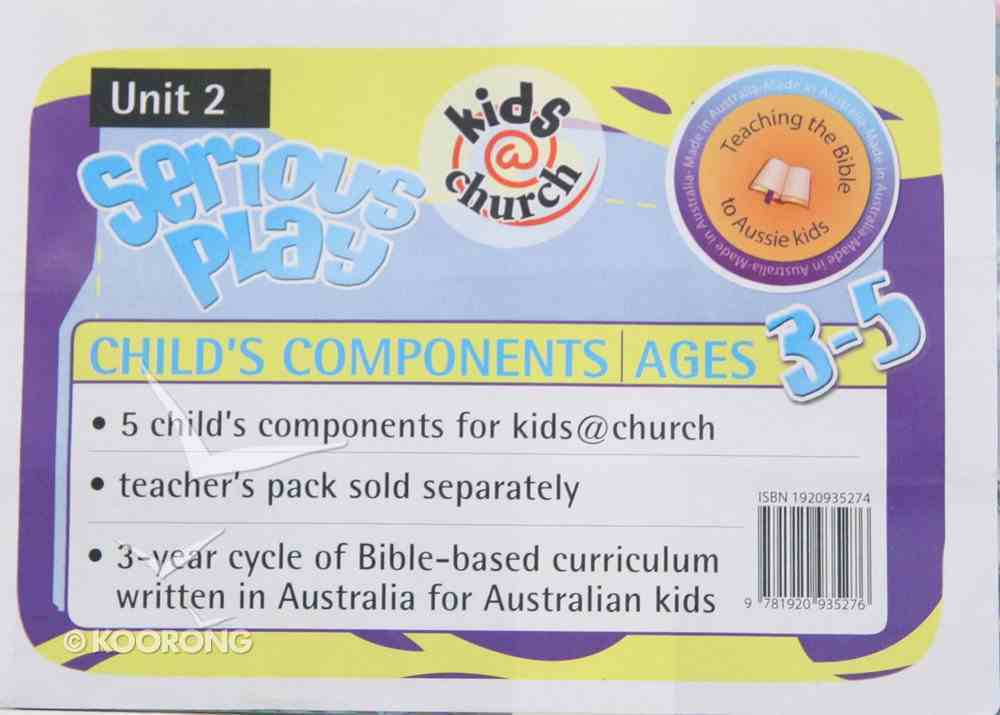 Kids@Church 02: Sp2 Ages 3-5 Child Components (Serious Play) (Kids@church Curriculum Series) Poster