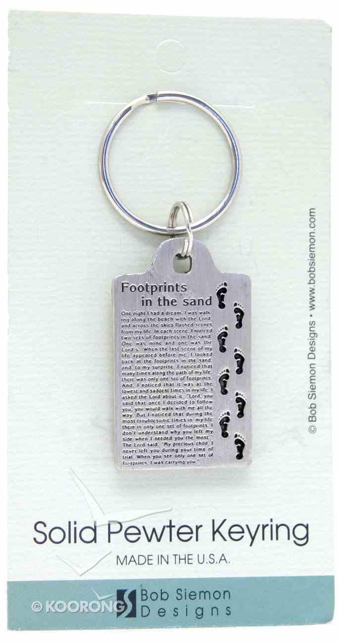 Keyring: Footprints (Pewter) Jewellery