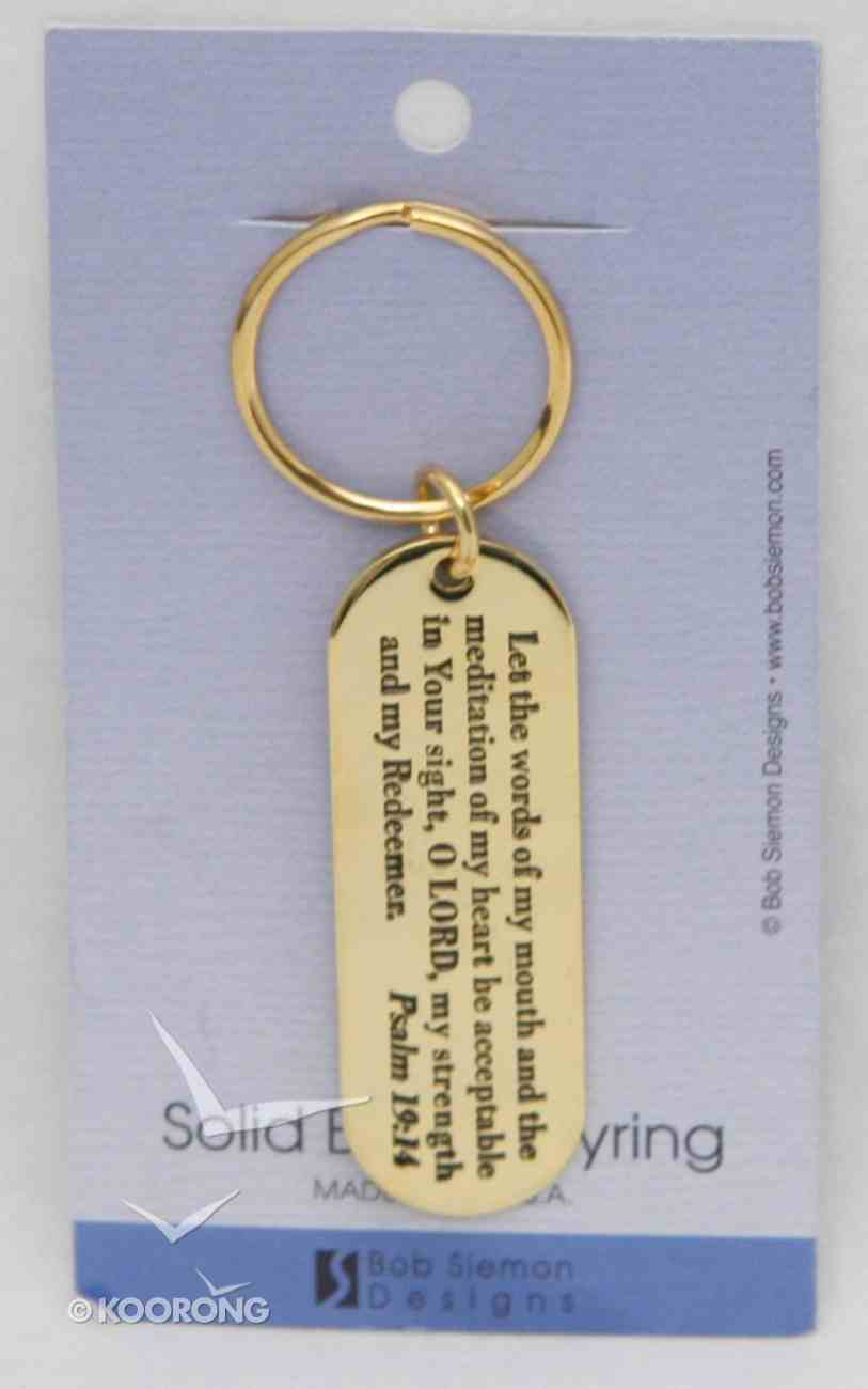 Keyring: Let the Words (Brass) Jewellery